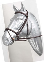Prestige Leather Raised Flash Bridle