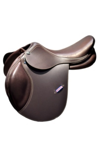 john whitaker kids saddle wide fit close contact, shaped knee rolls, non slip leather seat and knee rolls , forward cut  £700